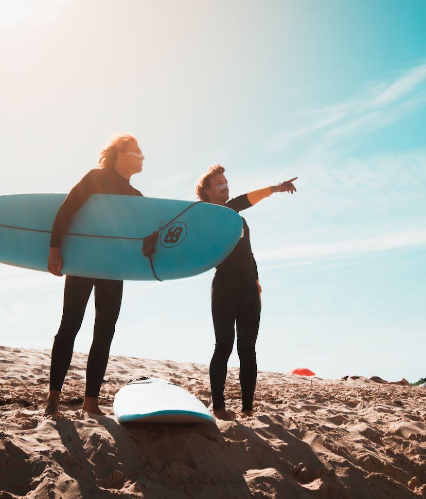 Priveles golfsurfen bij Surfblend Surfschool